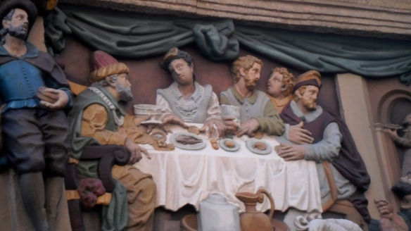 laatste avondmaal, plaquette, muurschildering, ST JAN, GOUDA, RONDOM ST JAN, GOUDA, MUSeUM VAN GOUDA
