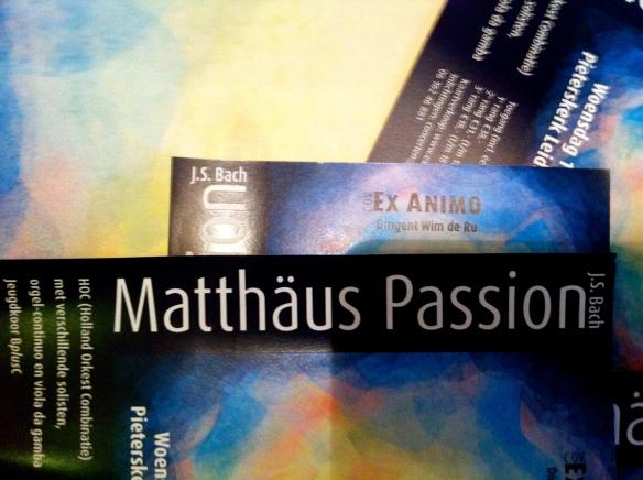 'Ex Animo' ,Matthäus-Passion van Johan Sebastian Bach, 2015