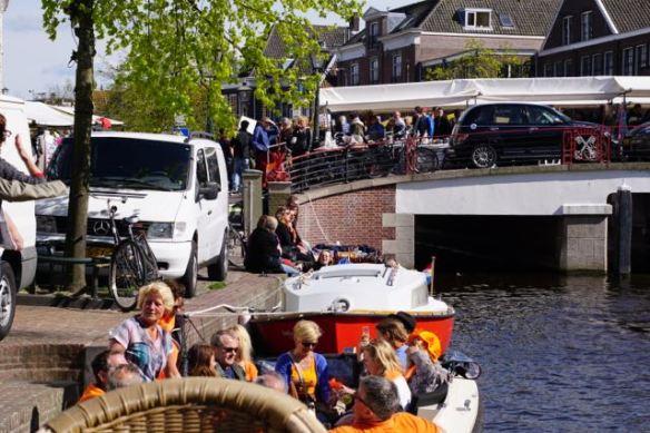 bootje,  koningsdag 2015, Leiden