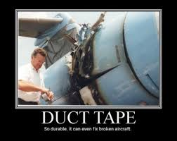 tape logo, Duck Tape, Duct Tape, plakband, sterk klevend, , mensen in duck tape, voorwerpen verpakt in duct tape