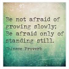 afraid, moving forward, standing still, slowly