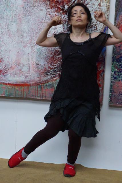 Risa Takita dans en Kees Kort op de shakuhachi , Creative Celebration, klankschalen, concert, percussie