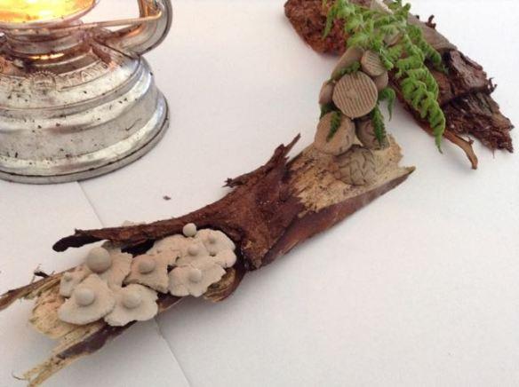 microben, Buitenkunst, kunstproject, microben van klei, klei objecten,