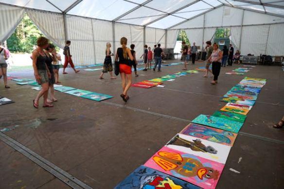 fabeldieren , BUITENKUNST DRENTHE 2015, project schilderen, schilderijen, mythologische beesten