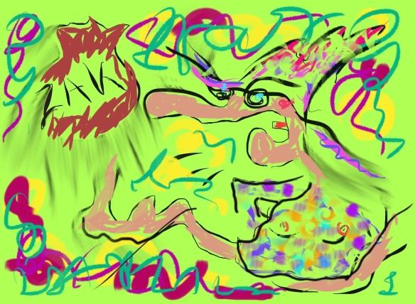 © Toverheks.com, boze heks, schoppen tegen een zak, woede