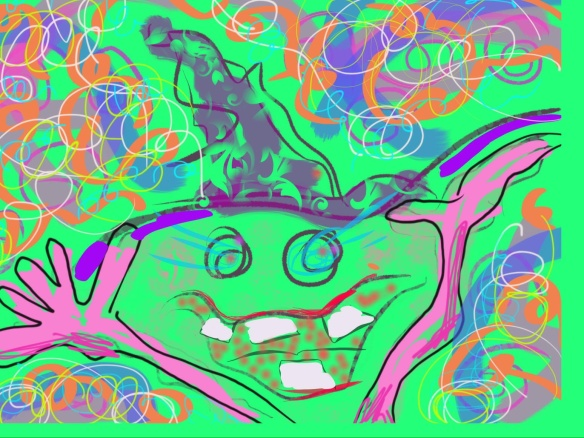 © Toverheks.com, lachende heks, vrolijk, opluchting