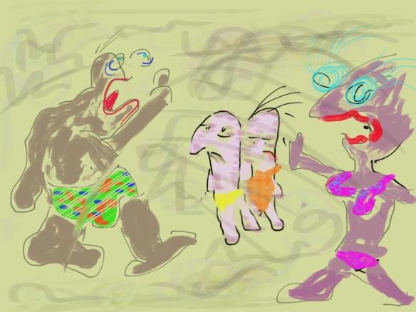 © Toverheks.com, boze die man, vrouw, kinderen, brullende vader, woede