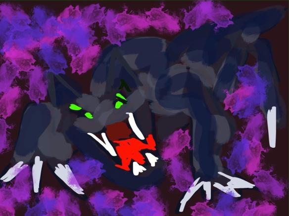 zwarte kat, gevaarlijke kat,