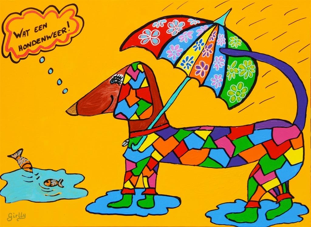 hondenweer, rotweer, vies weer, piesweer, hond, it rains cats and dogs
