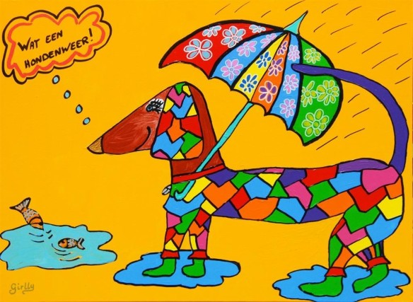 hondenweer, rotweer, vies weer, piesweer, hond, it rains cats and dogs