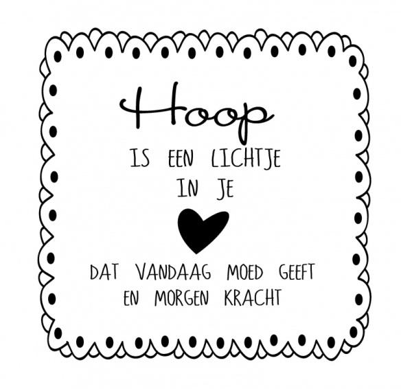 hoop, hoop doet leven, goede hoop