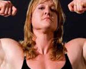 body building vrouw, worstel vrouw, stevige vrouw, grote blond wijf,sumo worstelen