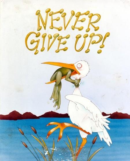 NEVER GIVE UP, OOIEVAAR EN KIKKER