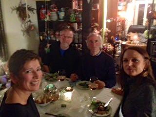 maaltijd met vrienden , feestmaal
