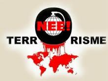 STOP TERRORISME, terrorisme is geen religie, terrorisme, nee, derde wereldoorlog,