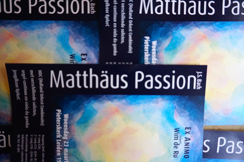 mattheus passion , ex animo, Leiden, oratoriumvereniging, Wim de Ru, 2016