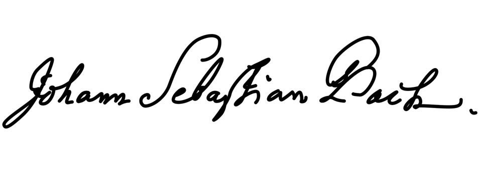 handtekening johann sebastian bach
