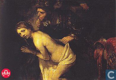 Deze kaart stuurde Heks: Ook ten tijde van Rembrandt dieven de dames het onderspit......